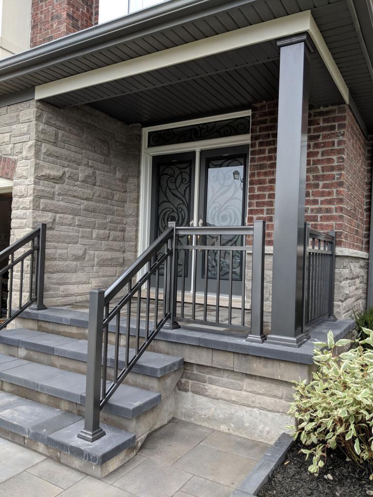 Aluminum Porch Railings 9