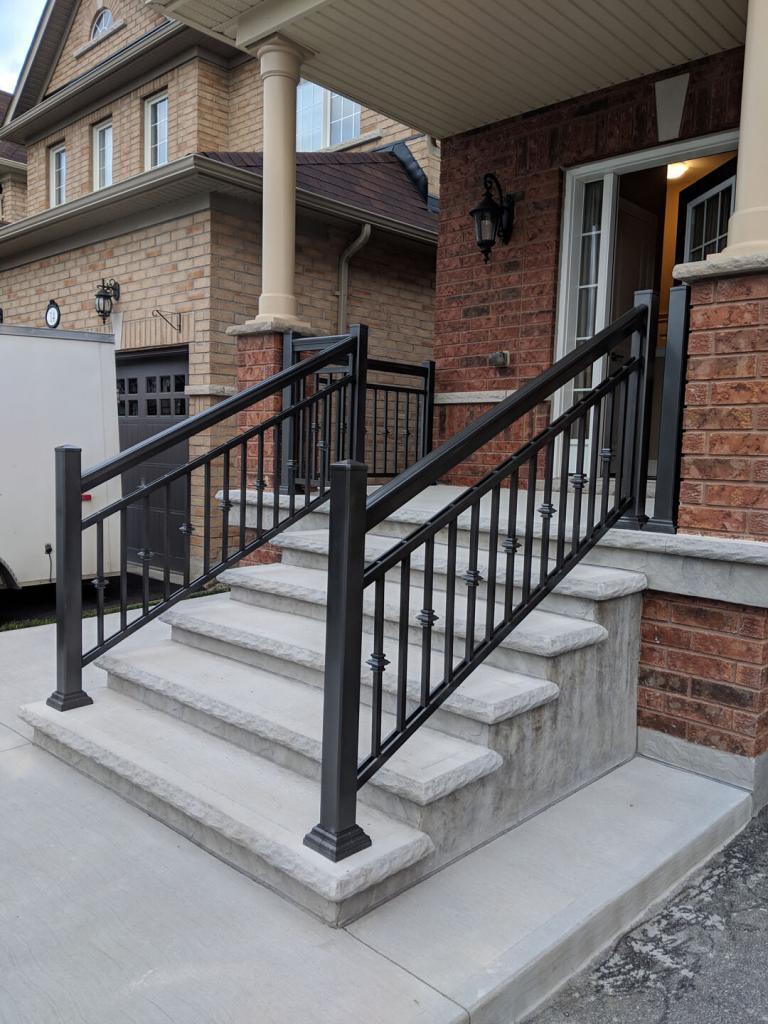 Aluminum Balcony & Stair Railings 11